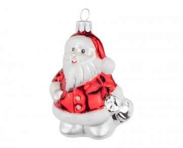 Skleněná figurka Santa, mix barev