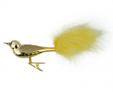 Sklěněný ptáček, zlatý