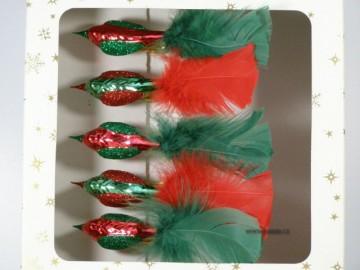 Vánoční ozdoba - ptáček 372 290 62-02 ass