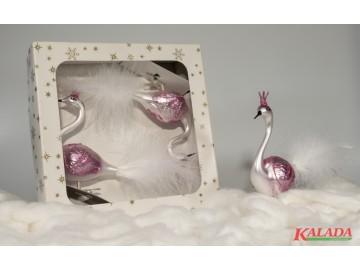 Vánoční ozdoba - labuť 372 491 49-12 104+64