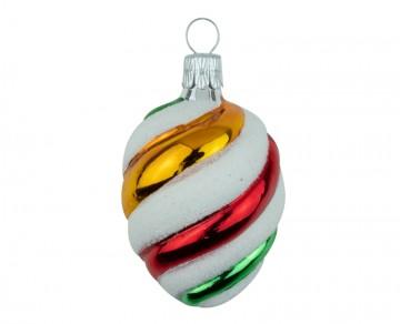 Vánoční oliva mix barev, spirála