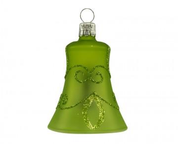 Vánoční zvonek olivový, spirálka lístek