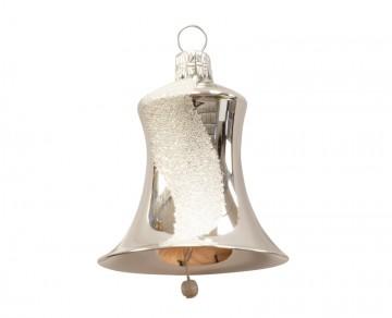 Vánoční zvonek stříbrný, šikmý pruh
