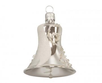 Vánoční zvonek stříbrný, esíčko