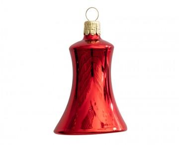 Vánoční zvonek červený, lesklý