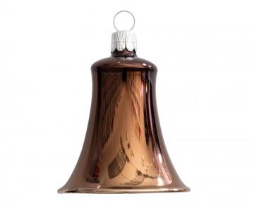 Vánoční zvonek čokoládový, lesklý