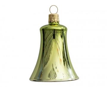 Vánoční zvonek olivový, lesklý