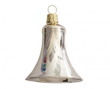 Vánoční zvonek šampáňo, lesklý