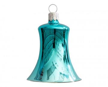 Vánoční zvonek tyrkysový, lesklý