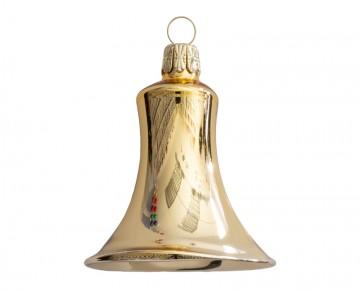 Vánoční zvonek světle zlatý, lesklý