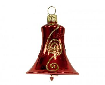 Vánoční zvonek červený , spirálka