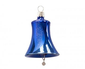 Vánoční zvonek tmavě modrý, šikmý pruh