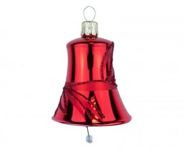 Vánoční zvonek červený, lístky