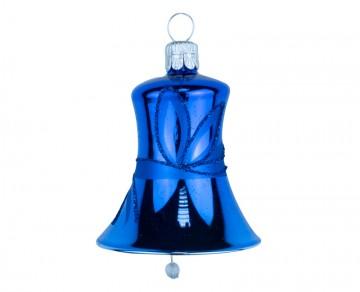 Vánoční zvonek tmavě modrý, lístky
