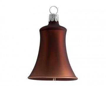 Vánoční zvonek čokoládový, matný