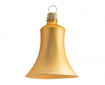 Vánoční zvonek tmavě zlatý, matný