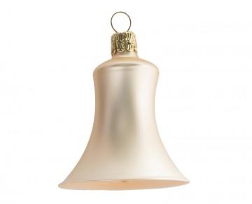 Vánoční zvonek šampáňo, matný