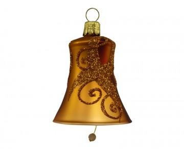 Vánoční zvonek karamelový, spirálka pruh