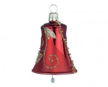Vánoční zvonek vínový, spirálka lístek