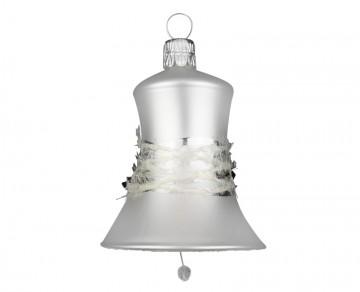 Vánoční zvonek perleťový, proužek