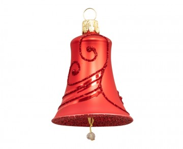 Vánoční zvonek červený, spirálka