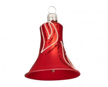 Vánoční zvonek červený, lístek