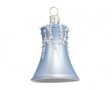 Vánoční zvonek bleděmodrý, rampouchy perličky