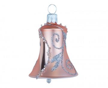 Vánoční zvonek světlý meruňkový, spirálka lístek