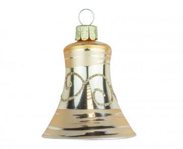 Vánoční zvonek zlatá tmavý, spirálka