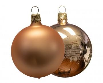 Vánoční koule béžová, matná a lesklá