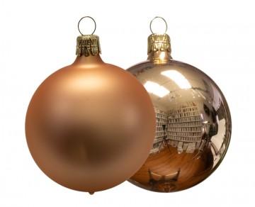 Vánoční koule béžová, lesklá a matná