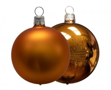 Vánoční koule karamelová, matná a lesklá