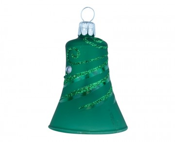 Vánoční zvonek tmavě zelený, spirálka