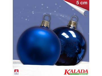 Koule modrá lesk - mat - 5cm
