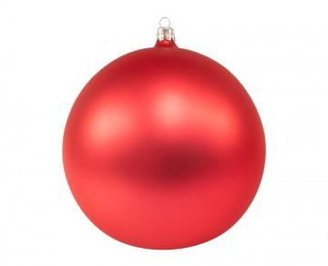 Vánoční koule světle červená, matná