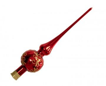 Vánoční špice červená, spirálka lístek