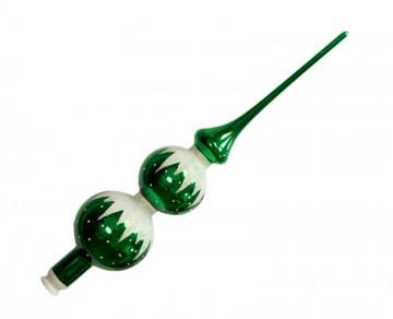 Vánoční špice zelená tmavá, rampouchy