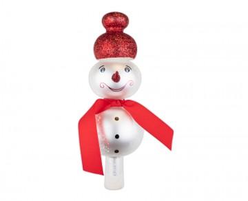 Vánoční špice perleťová, sněhulák