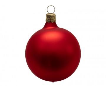 Vánoční koule červená, matná
