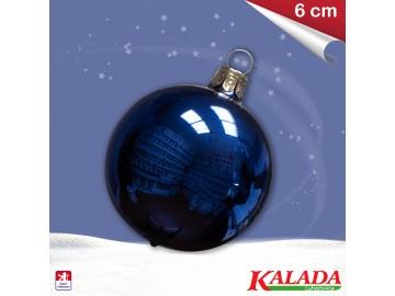Koule modrá - lesklá - 6cm