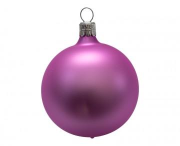Vánoční koule lila, matná