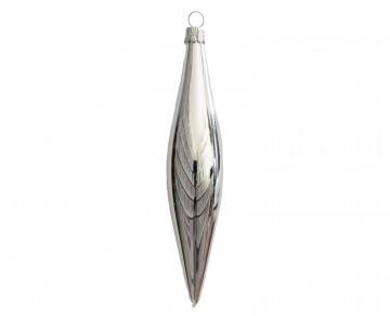Vánoční raketa stříbrná, lesklá