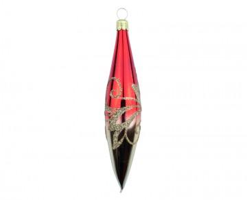 Vánoční raketa červená, vlnky