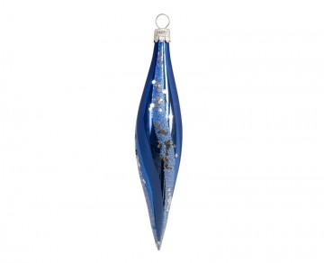 Vánoční raketa modrá světlá, šikmý pruh