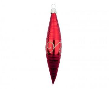 Vánoční raketa červená, spirálka