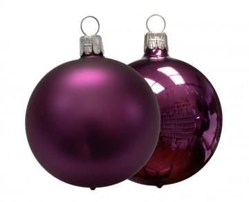 Vánoční koule světle fialová, matná a lesklá