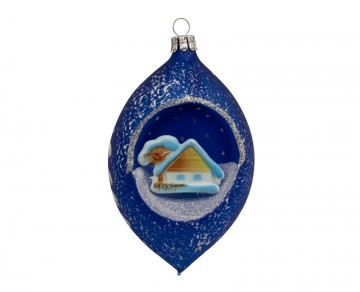 Vánoční koule modrá tmavá, obrázek