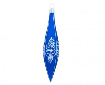 Vánoční raketa modrá tmavá, dekor krajka