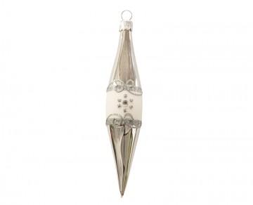 Vánoční raketa stříbrná, proužky kvítečka