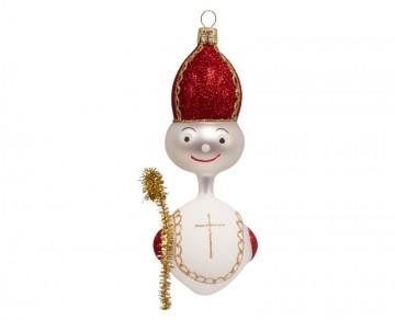 Skleněná figurka mikuláš, perleťový